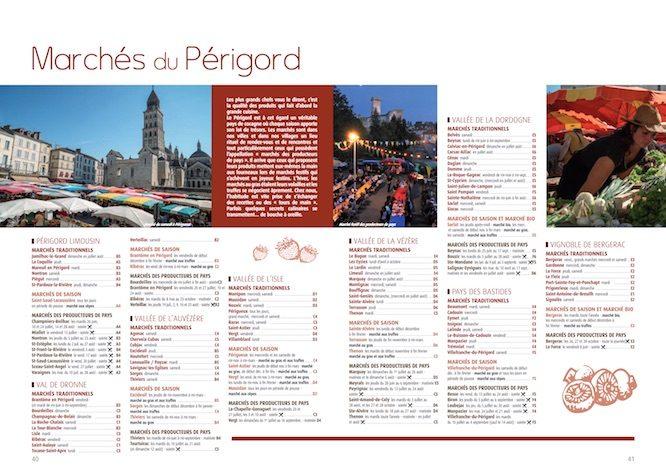 Cliquez sur l'image pour consulter la page des marchés du Périgord en format PDF