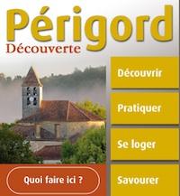Présentation du site mobile géolocalisé de Périgord Découverte