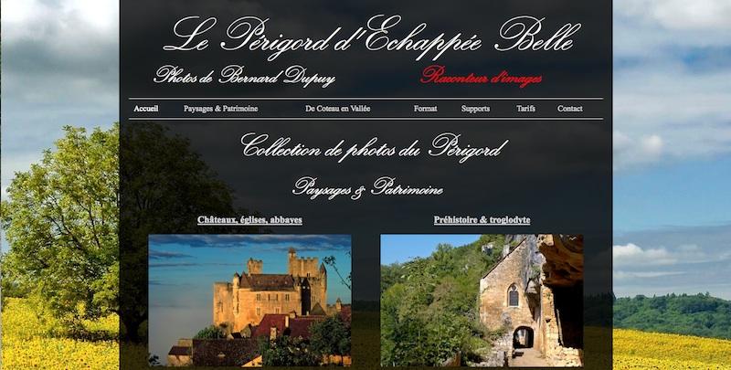 Cliquez sur l'image pour visiter le nouveau site de photo Le Périgord d'Echappée Belle
