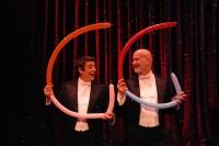 Les 2 « G », artistes de music-hall le samedi 3 août, Jardin des Enfeus de Sarlat à 21h45 dans le Festival des Jeux du Théâtre