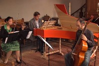 Ensemble Fantasticus samedi 27 juillet, église de Comberanche à 11h, 12h15, 15h, 16h15 et 17h30 pour Un trio de trios, étape de l'itinéraire baroque