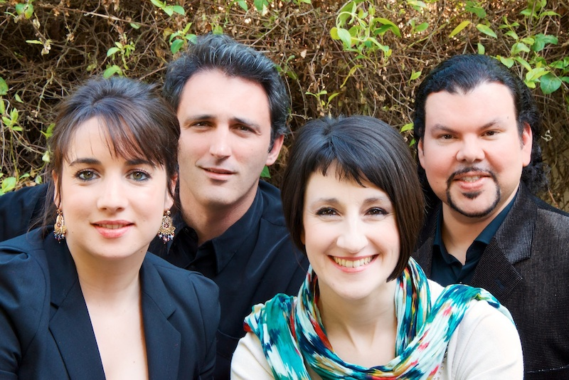 Céline Victores-Benavente, soprano, Aurélie Magnée, mezzo-soprano, Pablo Veguilla, ténor, Jean-François Boyer, piano pour le festival Più Di Voce 2013