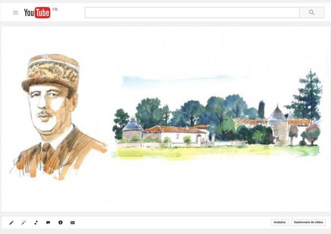 Charles de Gaulle dans sa maison de vacances au manoir de la Ligerie