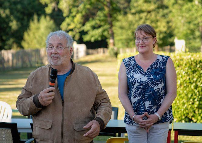 Discours de Gilles Delluc (Préhistorien) avec Catherine Bicrkel-Versaveaud @ William Lesourd