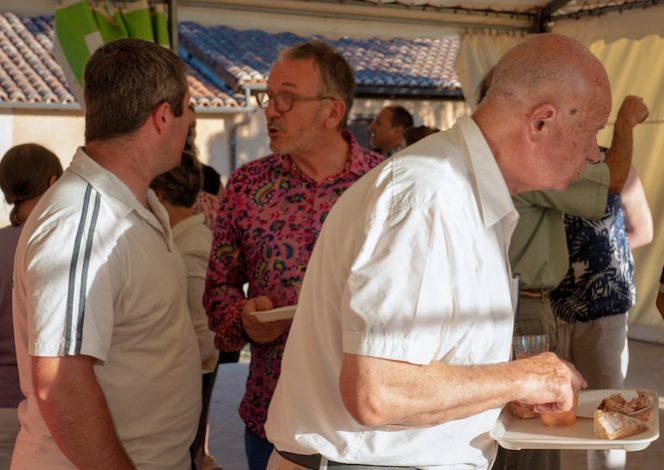 Albin Meynard (Ferme Andrévias), J-Ch Pouyot et Gilbert Chabaud (Maire St-Pierre de Frugie @ W Lesourd