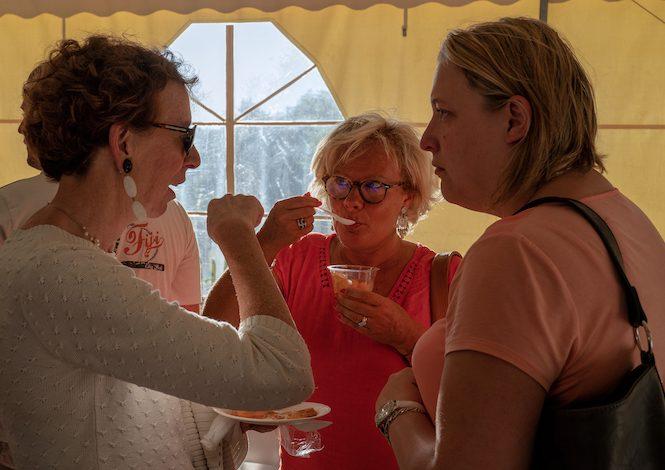 Mme de la Tour du Pin (château de Jumilhac), Isabelle Hyvoz & Sarah Barraud (OT Périgord Limousin) @ W Lesourd