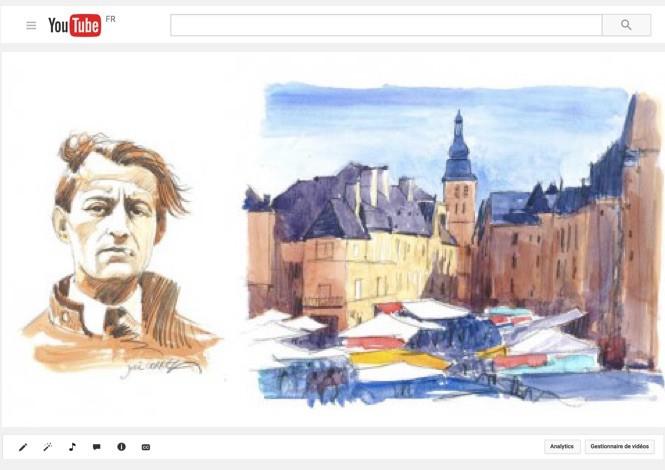 André Malraux dans la cité médiévale de Sarlat